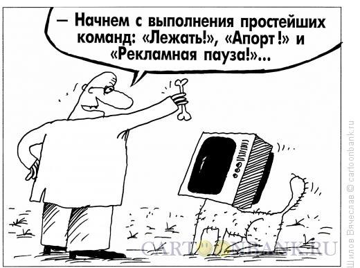 Карикатура: Телевизор, Шилов Вячеслав