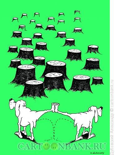 Карикатура: собачья проблема, Дубовский Александр