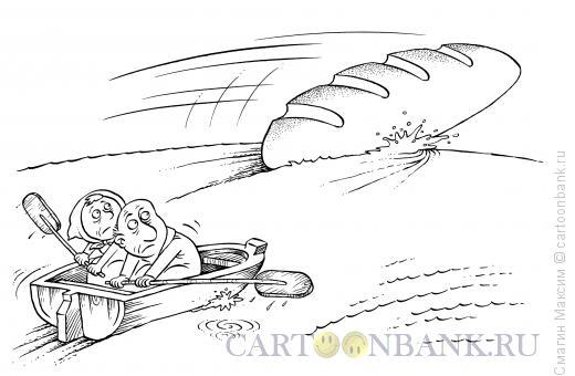 Карикатура: Гонка за батоном, Смагин Максим