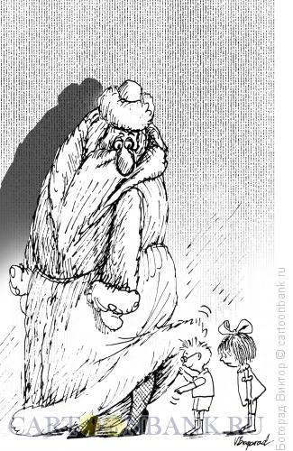Карикатура: Дед Мороз, Богорад Виктор