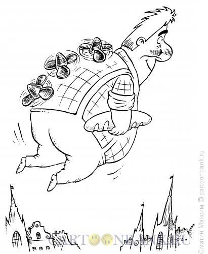 Карикатура: Карлсон потолстел, Смагин Максим