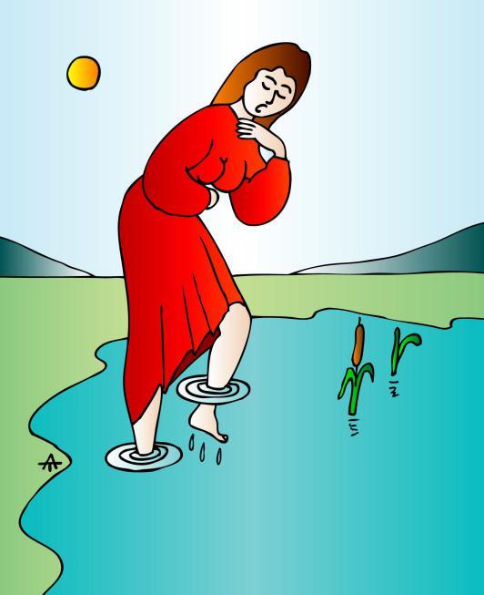 Карикатура: Девушка и река, Алексей Талимонов