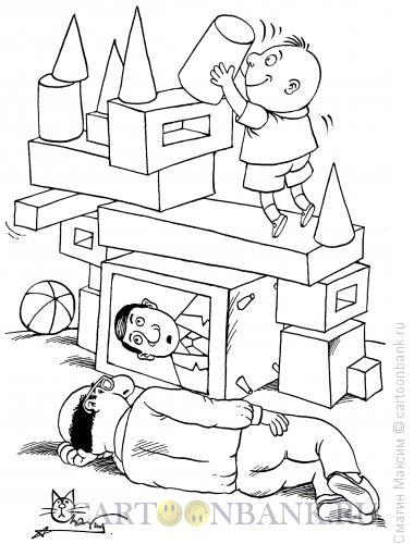 Карикатура: Строительство замка, Смагин Максим