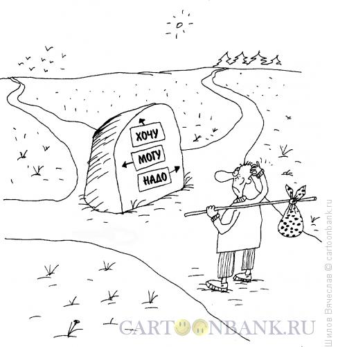 Карикатура: Хочу, могу, надо, Шилов Вячеслав