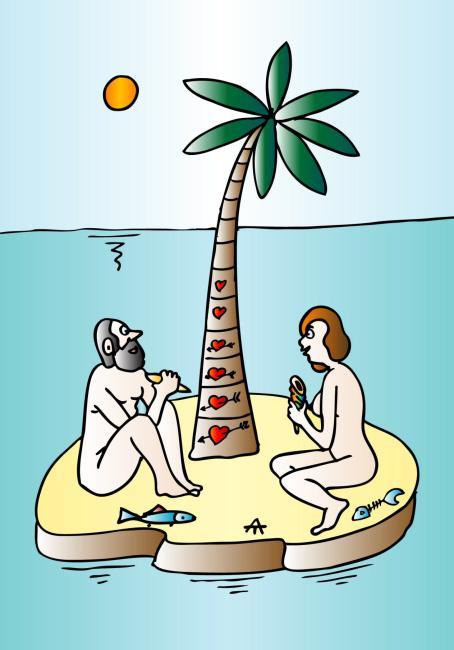Картинки нарисованные, необитаемый остров смешные картинки