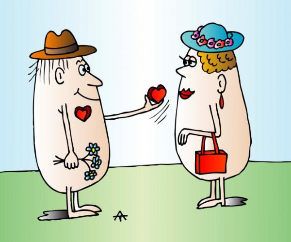 Прикольные картинки карикатуры про любовь, почту