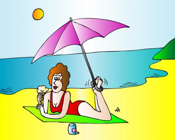 Смешные картинки про отдых на море для полных супругов