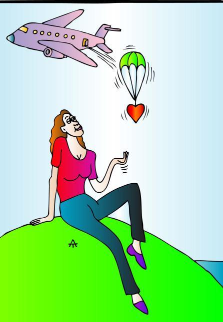 Карикатура: Женщина и самолет, Алексей Талимонов