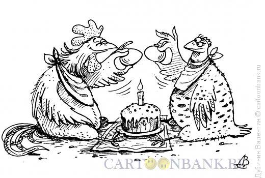 Карикатура: Праздник Пасхи, Дубинин Валентин