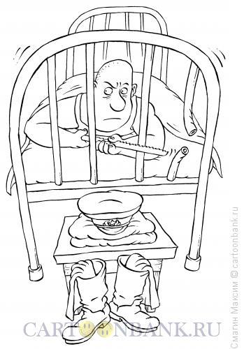 Карикатура: Побег, Смагин Максим