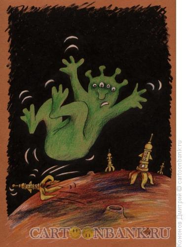 Карикатура: поскользнулся, Кононов Дмитрий