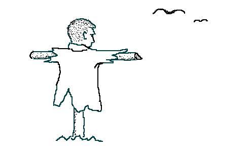 Карикатура: пугало, Борис Рысев