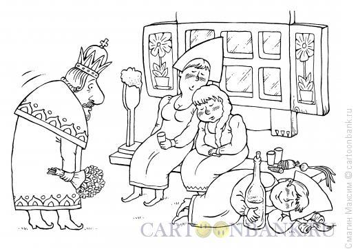 Карикатура: Пьяные девицы, Смагин Максим