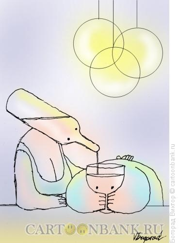 Карикатура: Пара в баре, Богорад Виктор