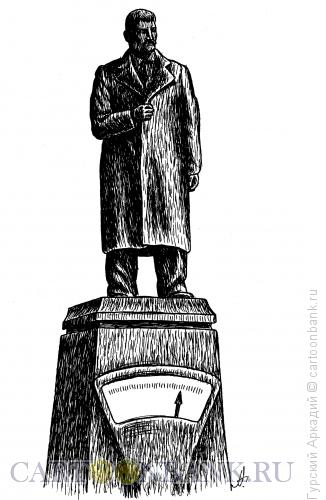 Карикатура: памятник-весы, Гурский Аркадий
