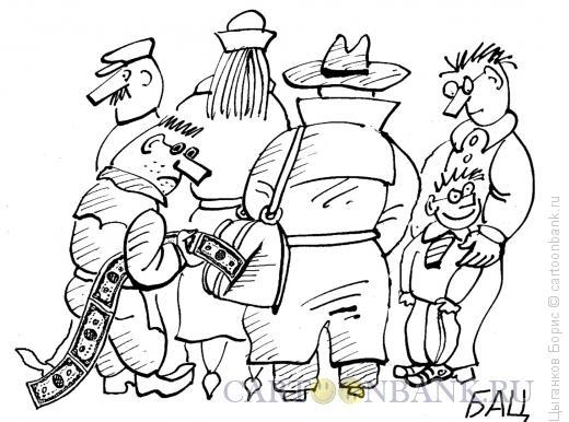Карикатура: Вор у вора украл, Цыганков Борис