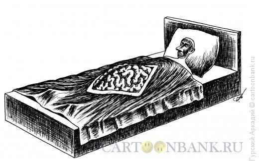 Карикатура: одеяло-мозги, Гурский Аркадий