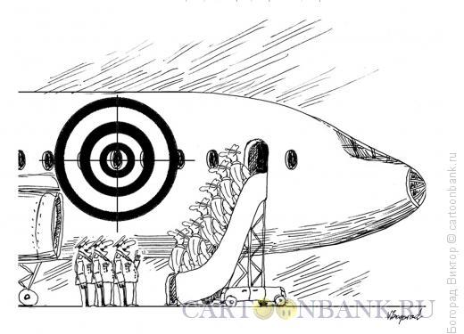 Карикатура: Знак на самолете, Богорад Виктор
