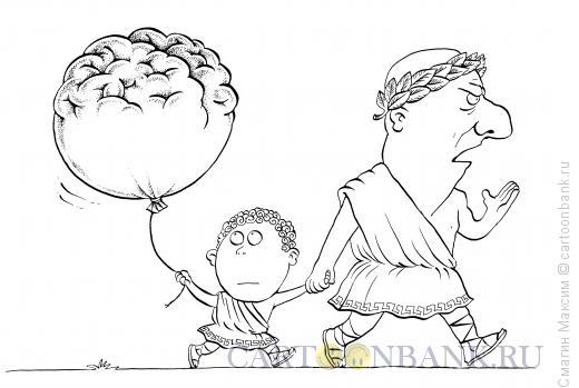 Карикатура: Папа-оратор, Смагин Максим