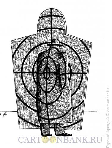 Карикатура: Шпион на фоне, Гурский Аркадий