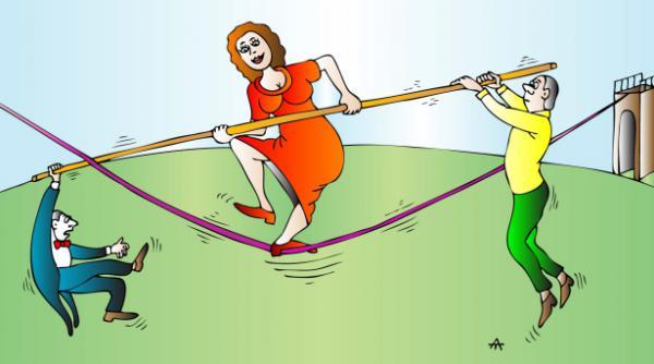 Карикатура: Эквилибристика, Алексей Талимонов