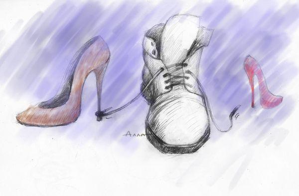 Карикатура: обувь, Сердюкова Алла
