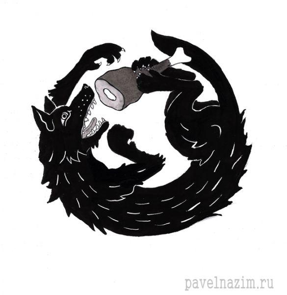 Карикатура: Волка ноги кормят., Павел Назим