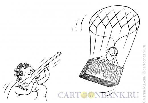 Карикатура: Мысль под прицелом, Смагин Максим
