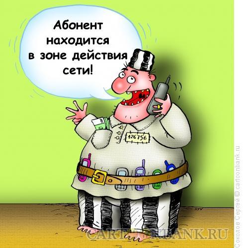 Карикатура: зона абонента, Соколов Сергей