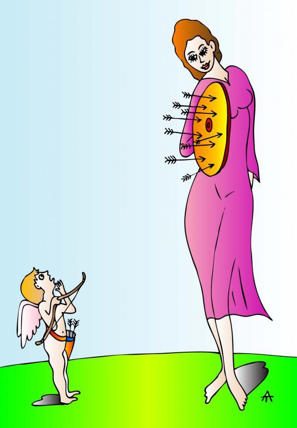 Карикатура: Амур, Алексей Талимонов