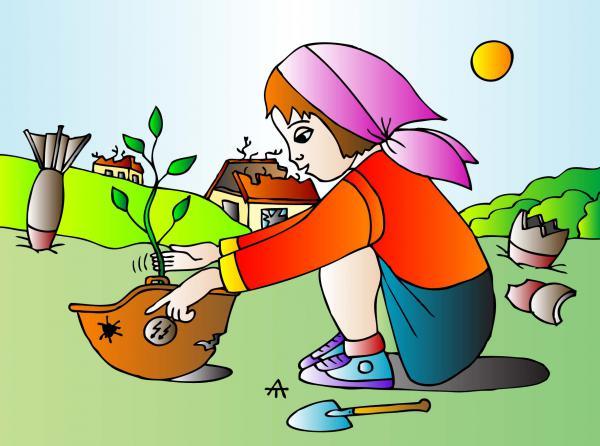 Карикатура: Дети и война, Алексей Талимонов