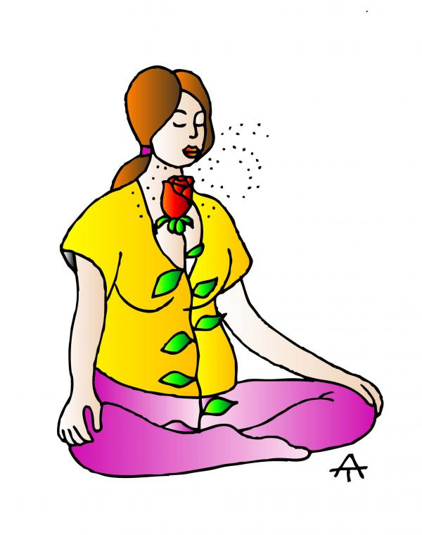 Карикатура: Медитация, Алексей Талимонов