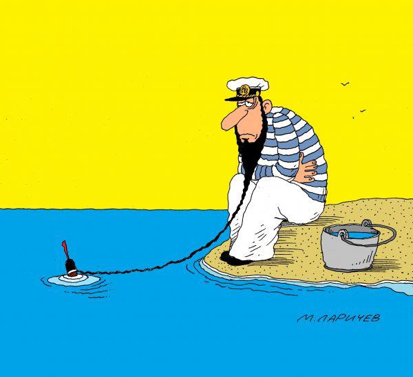 Карикатура: моряк, михаил ларичев