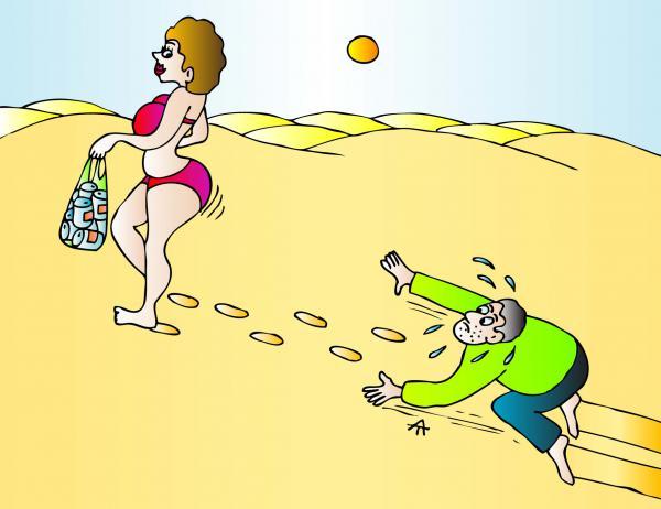 Карикатура: Мужчина и женщина, Алексей Талимонов