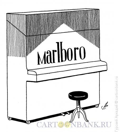 Карикатура: пианино-реклама, Гурский Аркадий