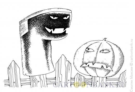 Карикатура: Хэллоуин по-русски, Смагин Максим