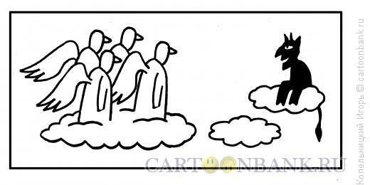 Карикатура: черт на облаке, Копельницкий Игорь