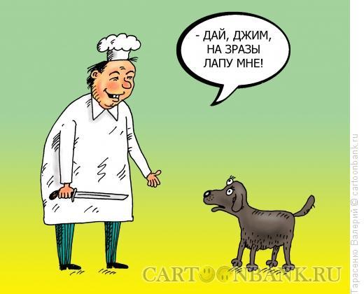 Карикатура: Корейский кок, Тарасенко Валерий