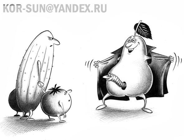 Карикатура: Фрукт, Сергей Корсун