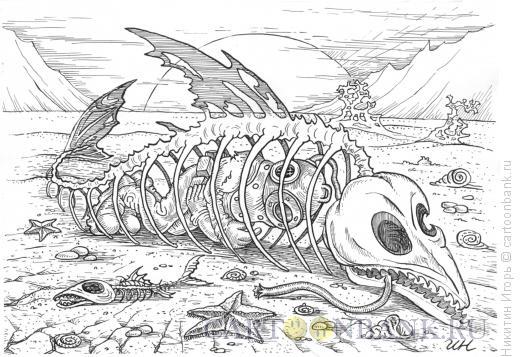 Карикатура: Водолаз, Никитин Игорь