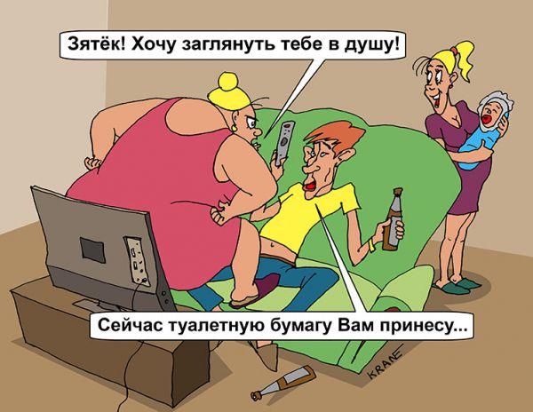 Карикатура: Заглянуть в душу, Евгений Кран