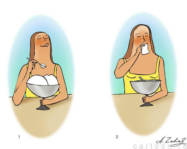 Карикатура: Пятый размер, Александр Зудин