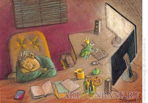 Карикатура: Сказочная помощь, Сергеев Александр