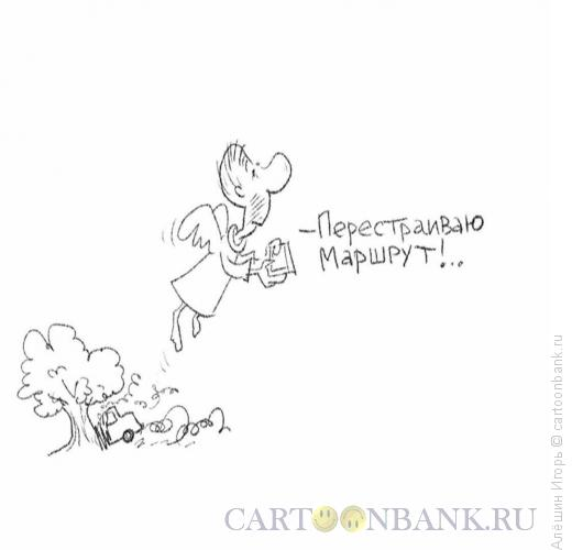 Карикатура: навигатор, Алёшин Игорь