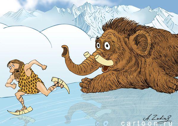 Карикатура: Изобретатель коньков, Александр Зудин