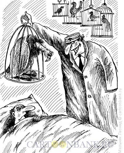 Карикатура: Птичка, Мельник Леонид