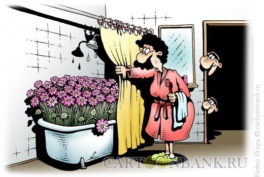 Карикатура: Цветы для мамы, Кийко Игорь