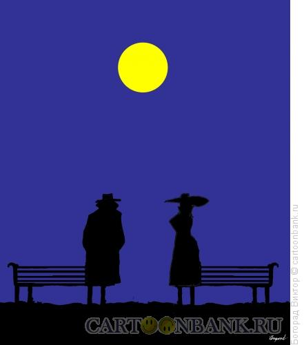 Карикатура: Ночное свидание, Богорад Виктор