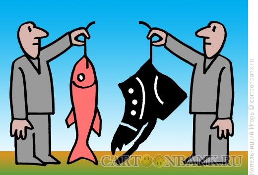 Карикатура: рыба, Копельницкий Игорь