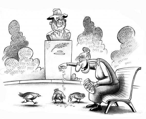 Карикатура: Птички, Сергей Корсун